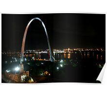 The Gateway Arch by Night Poster