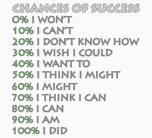 Chances of success! by seanflorence