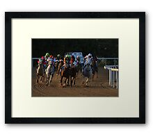 Who is it going to be? Framed Print