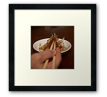 Onion Salad Framed Print