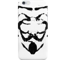 R for Rorschach iPhone Case/Skin