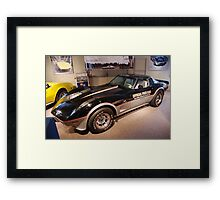 Corvette: 1978 Indy Pace Car Replica Framed Print