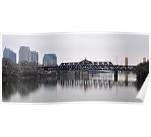 Cityscape aspect from on the Sacramento River Poster