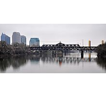 Cityscape aspect from on the Sacramento River Photographic Print