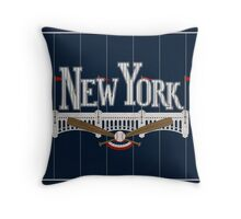 New York Baseball Throw Pillow