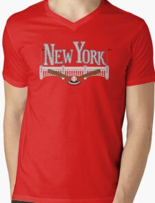 New York Baseball Mens V-Neck T-Shirt