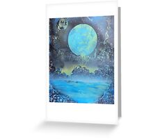 Spray Paint Art- Two Moons Greeting Card