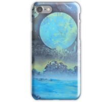 Spray Paint Art- Two Moons iPhone Case/Skin