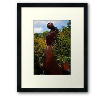 Sculpture, St Blaise, Nice, Provence, France Framed Print
