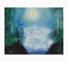 Spray Paint Art- Double waterfall One Piece - Short Sleeve