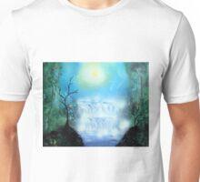 Spray Paint Art- Double waterfall Unisex T-Shirt