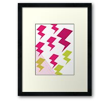 Struck by lightning Framed Print