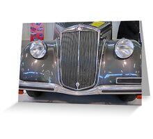 Vintage car.  Greeting Card
