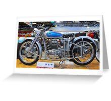 Vintage motorcycle Greeting Card