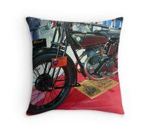 Vintage motorcycle Throw Pillow
