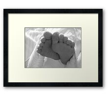 Wrinkly Toes Framed Print