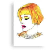 hayley williams  Canvas Print