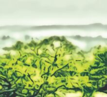 Landscape in Green Sticker