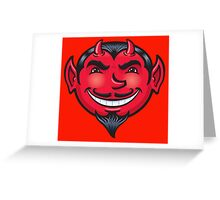 Smiling Devil Face Greeting Card