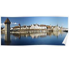 Chapel bridge in Luzern Poster
