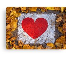 Unbroken heart Canvas Print