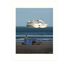 Cruise Liner Vistamar Art Print