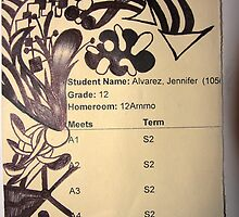 -My Old High School schedule- by itsmejenny