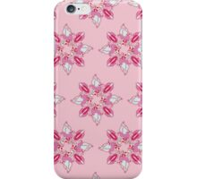 Stylized flowers on the pink background iPhone Case/Skin