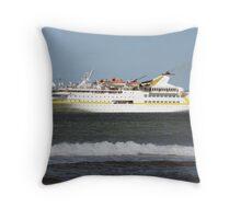 Cruise Liner Vistamar Throw Pillow