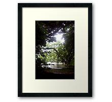 Hidden in Koishikawa Garden Framed Print