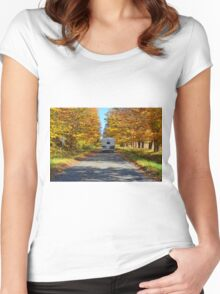 Driving in autumn colours Women's Fitted Scoop T-Shirt