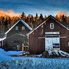 Winter Barn by lloydsjourney