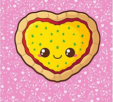Heart Pizza [Pink] by pai-thagoras