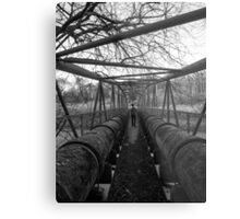 Water Pipe Bridge Metal Print