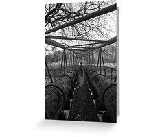 Water Pipe Bridge Greeting Card