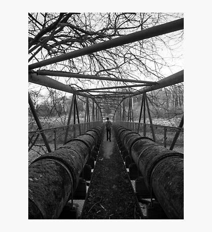 Water Pipe Bridge Photographic Print