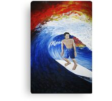 Surfing the Sunset Canvas Print