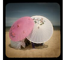 The pink parasol Photographic Print