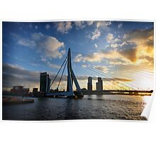 Erasmus bridge Rotterdam Poster