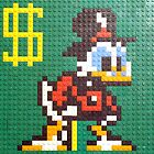 Scrooge McDuck LEGO Mosaic from the Duck Tales NES Video Game by bmwlego