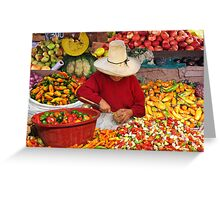 MARKET SCENE - CAJAMARCA Greeting Card