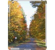 Driving into autumn colors iPad Case/Skin