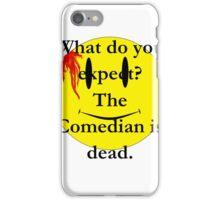 Watchmen, the comedian is dead iPhone Case/Skin