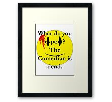 Watchmen, the comedian is dead Framed Print