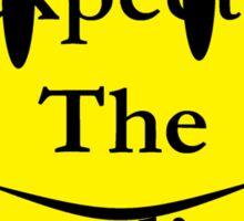 Watchmen, the comedian is dead Sticker