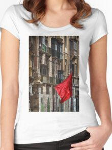 Aħmar Women's Fitted Scoop T-Shirt