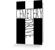 My Chemical Romance Poster Cemetery Drive Greeting Card