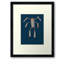 Fugitive Robot Framed Print