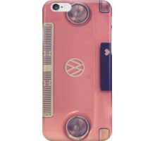 Pink VW camper van iPhone Case/Skin
