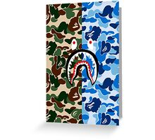 Bape Camo & Shark Greeting Card
